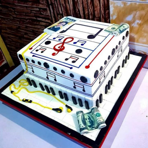 Strange Buy Customized Music Birthday Cake Online In Nigeria Olatunjee Funny Birthday Cards Online Inifofree Goldxyz