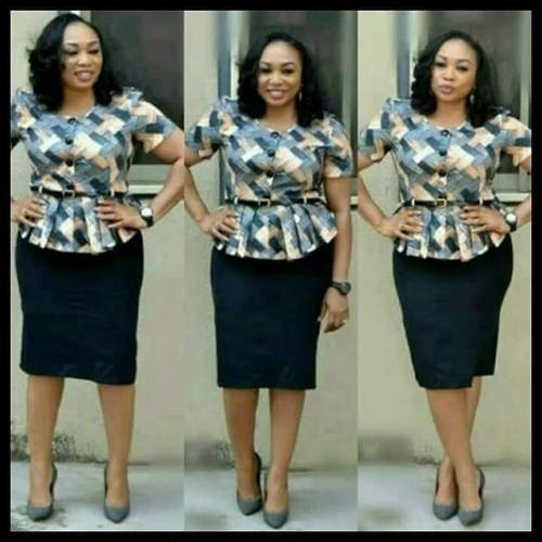 85840951dc535 Buy Formal Skirt and  Blouse in Various Sizes online In Nigeria ...